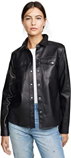 BB Dakota Women's Way Out West Vegan Leather Shirt Jacket