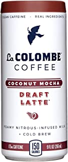 La Colombe Coconut Mocha Draft Latte - 9 Fluid Ounce, 16 Count - Cold-Pressed Espresso and Frothed Coconut Milk With Dark Chocolate - Made With Real Ingredients - Dairy-Free - Grab And Go Coffee