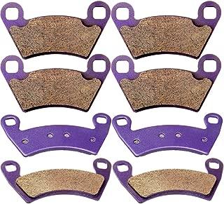 SCITOO Kevlar Carbon Fiber Brake Pads Fit for 08 09 10 11 12 13 14 Polaris Ranger 10 11 12 13 14 Polaris RZR