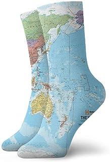 Niños Niñas Loco Divertido Mundo Mapa político Calcetines Calcetines lindos del vestido de la novedad