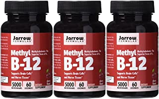 Jarrow Formulas Methylcobalamin (Methyl B12), Supports Brain Cells, 5000 mcg, 60 Lozenges (CHERRY: 5000 MCG, 180 Lozenges)