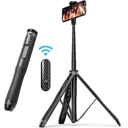 ATUMTEK Bastone Selfie, 130cm Selfie Stick Trepiede per Cellulari Bluetooth Telecomando Wireless Cavalletto per Smartphone Compatibile con iPhone 12 PRO Max/12 Mini/11/X/XS, Samsung Galaxy S10/S9