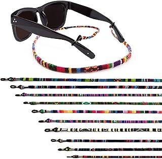 10 Pieces Glasses Strap, Llamaababie Multicolored Sunglasses Strap Chain, Cotton Eyeglass Holder Strap, Safety Eyewear Ret...