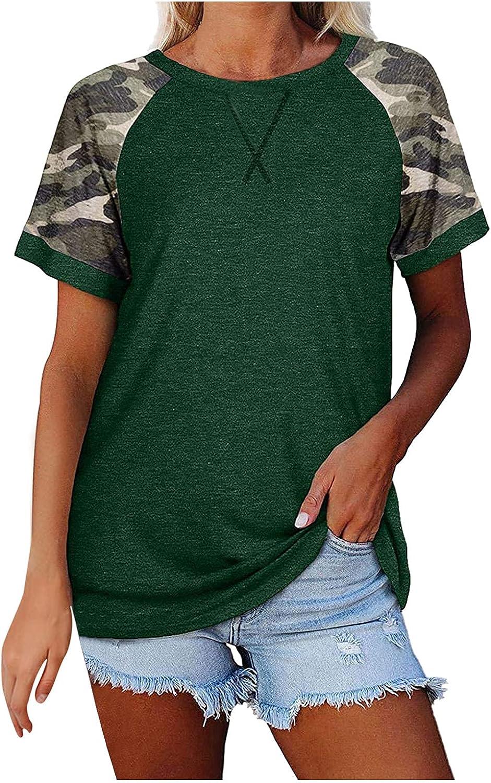 GFPGNDFHG Womens Print O-Neck Tank Tops Short Sleeve Workout Shirts Casual Loose Tees