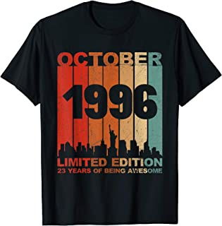 Awesome October 1996 23rd Birthday 23 Years Old Shirt Gift T-Shirt