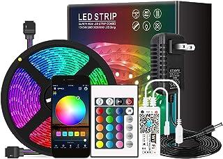 Cucudy Fita de LED Wi-Fi RGB, com Controle Remoto IR