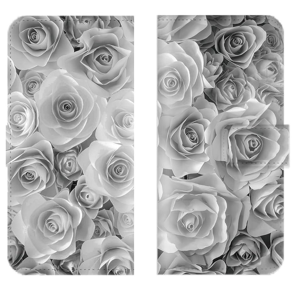 階素人スーツ【 iris 】 手帳型ケース 全機種対応 【 iPod touch5 アイポッドタッチ5専用 】 FLOWER ROSE 花柄 バラ 薔薇 フラワー かわいい 人気 お洒落 オシャレ ブック型 二つ折り レザー 手帳カバー スマホケース スマートフォン