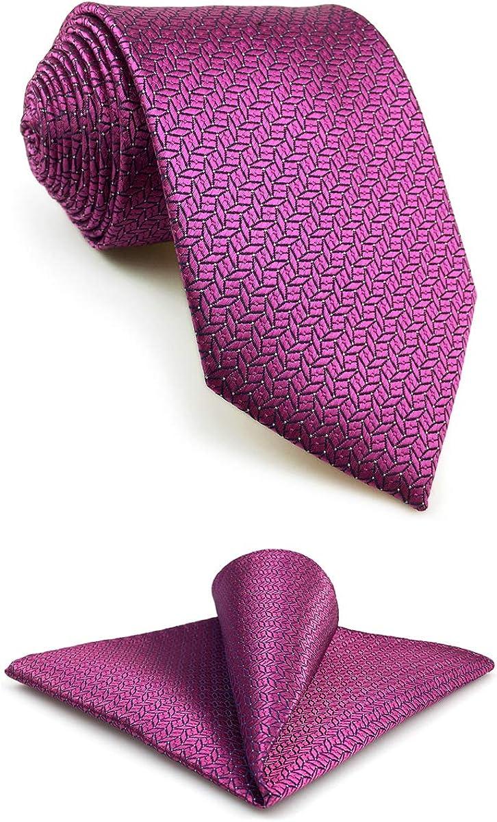S&W SHLAX&WING Mens Tie Luxury Neckties Fuschia Solid