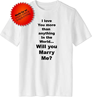 d844169e6 Will you marry me proposal tshirt shirt for men mens