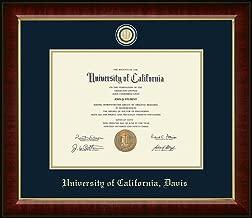UC Davis Masterpiece Medallion Diploma Frame - Features Solid Hardwood