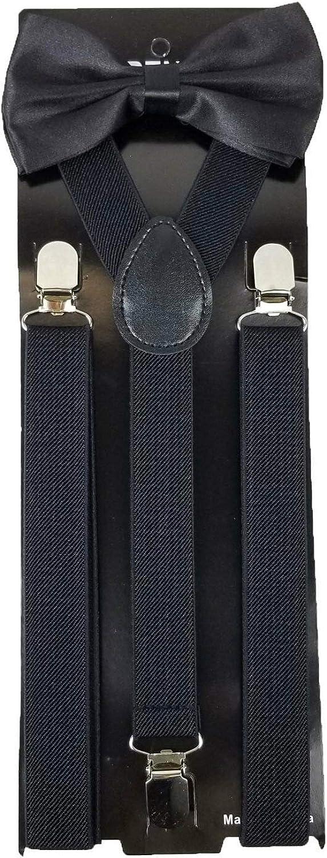 Black Bow Tie Ultra-Cheap Deals Set for Suspender Men Women Ranking TOP3 Adults Teens