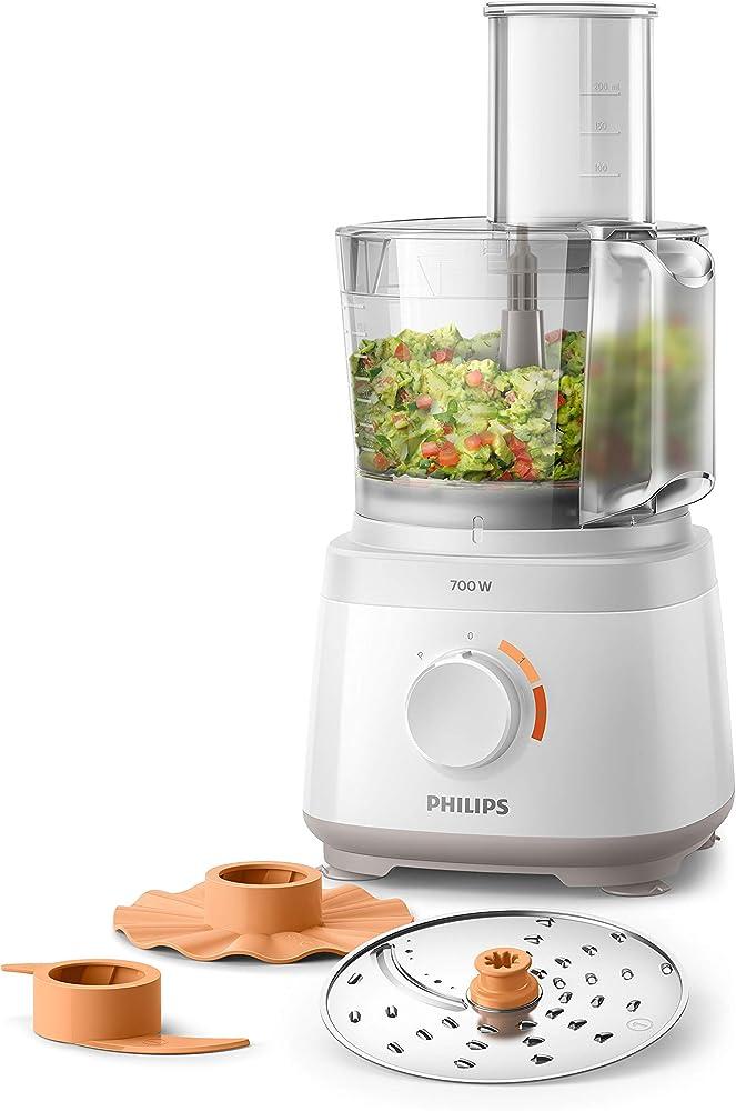 Philips robot da cucina multifunzione con oltre 16 funzioni, disco 2-in-1 in acciaio inox,2.1 litri HR7310/00