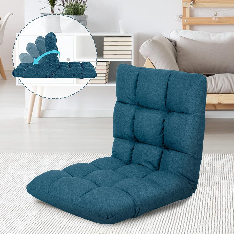 Scurrty Adjustable Floor Chair Clearance Folding Sofa,Lounge Cha