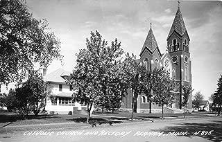 Perham Minnesota Catholic Church Real Photo Antique Postcard K70469