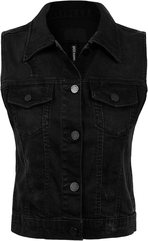Design by Olivia Women's Elegant Junior Fit Sleeveless Jean up Price reduction De Button