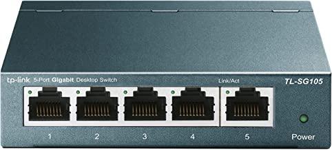 TP-Link TL-SG105 | 5 Port Gigabit Unmanaged Ethernet Network Switch, Ethernet Splitter | Plug & Play | Fanless Metal Design | Shielded Ports | Traffic Optimization | Limited Lifetime Protection