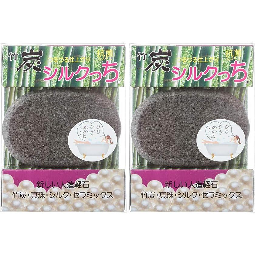 銛種をまく特別なつるつる仕上がり 新しい人造軽石 竹炭シルクっち 2個セット