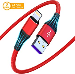 [ Upgarded Apple MFi Certified ] iPhone Charger 10ft, 2Pack 10foot Lightning Cable, Data Sync 10Feet iPhone USB Charging Cable Cord for iPhone 11/11 Pro / 11 Pro Max/XS/XS Max/XR/X / 8, iPad Mini.