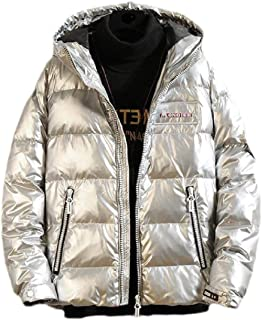 Schoon Men Hooded Uitloper Fashion Warm Zipper Opgevuld Gewatteerd Loose Puffer Jacket Opgeruimd