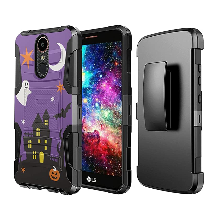 Capsule Case Compatible with LG Stylo 4 Plus, LG Stylo 4, LG Q Stylus [Dual Layer Full Armor Style Kickstand Holster Combo Case Black] for LG Stylo 4 - (Halloween)