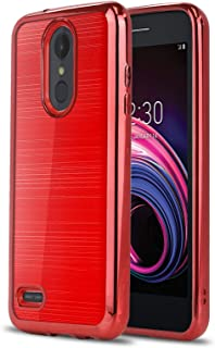 Phone Case for [LG Tribute Empire (Boost Mobile, Sprint)], [Chrome Series][Red] Shockproof Soft TPU Rubber [Chrome Design Electroplated Bumper] Cover for Tribute Empire (Boost Mobile, Sprint)