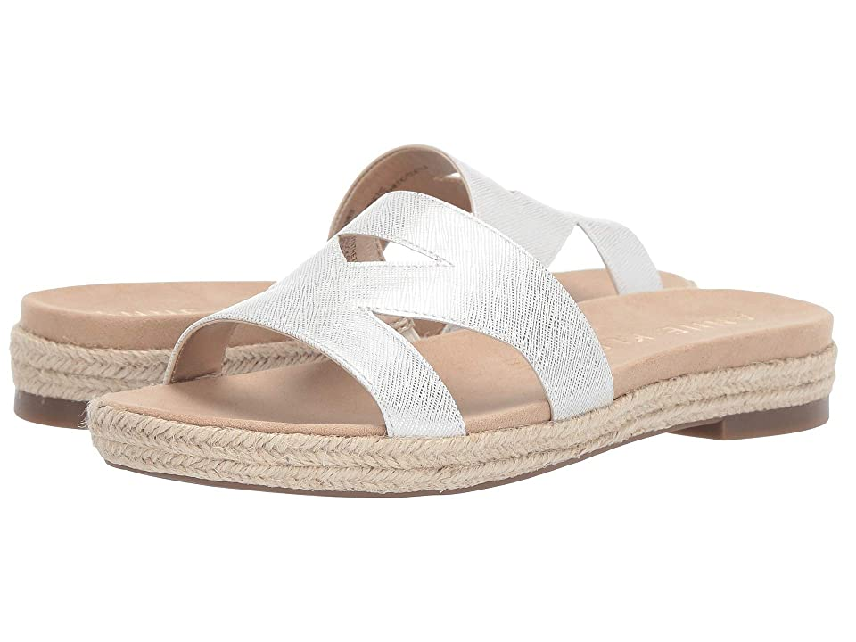 Anne Klein Doris Slide Sandal (White) Women