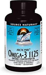 Source Naturals ArcticPure Omega-3 Fish Oil 1125mg Ultra Potency EPA + DHA for Heart, Joint, Brain & Immune Health -Enteri...