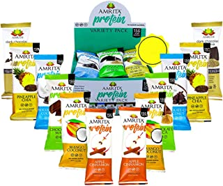 Amrita Plant based Paleo Friendly Nut Free Variety Protein Bar - Pack of 12 - Gluten Free Protein Bars - Na...
