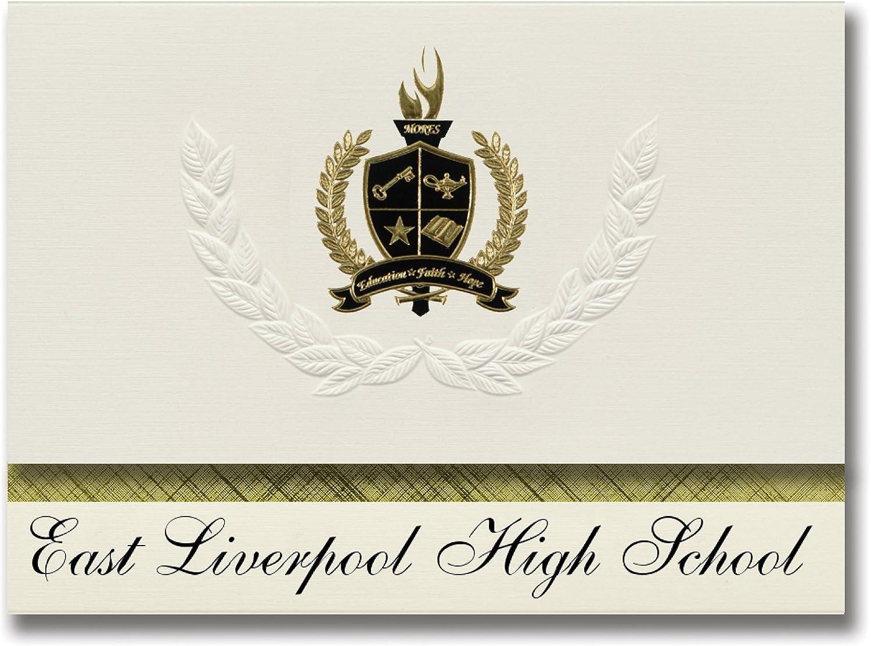 Signature Ankündigungen East Liverpool High School (East Liverpool, oh) oh) oh) Graduation Ankündigungen, Presidential Stil, Elite Paket 25 Stück mit Gold & Schwarz Metallic Folie Dichtung B078VCBJB7     Attraktiv Und Langlebig  dc388b