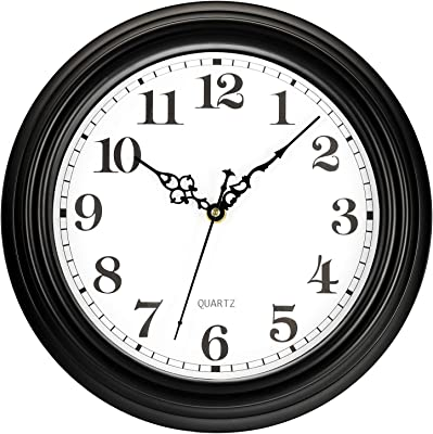 Amazon Com Bernhard Products Large Wall Clock 18 Inch Quality Quartz Silent Non Ticking Battery Operated For Home Living Room Over Fireplace Beautiful Decorative Timeless Roman Numeral Stylish Clock Dark Brown Kitchen Dining