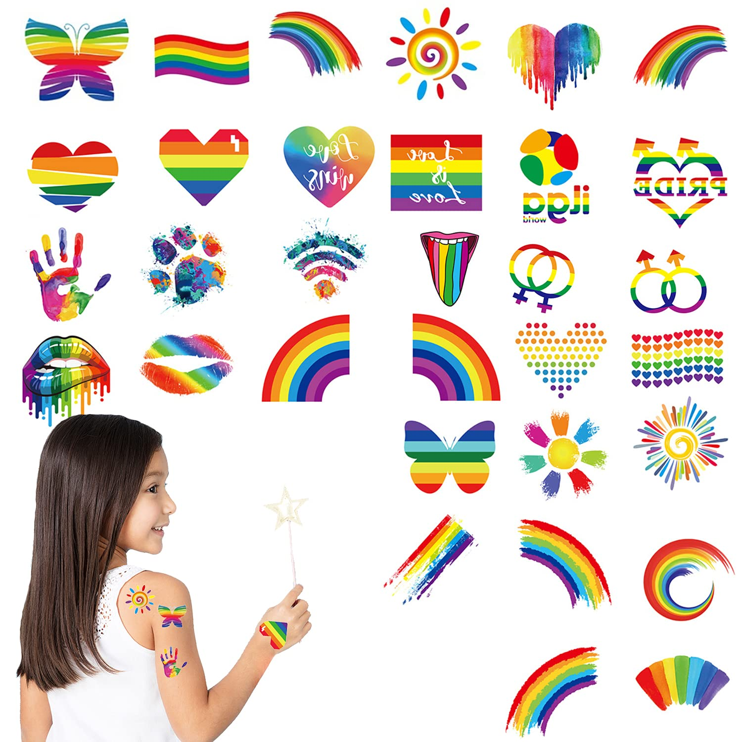 40 Popular brand in the world Sheets Pride Tattoos LGBT Temporary T Gifts Rainbow Couple
