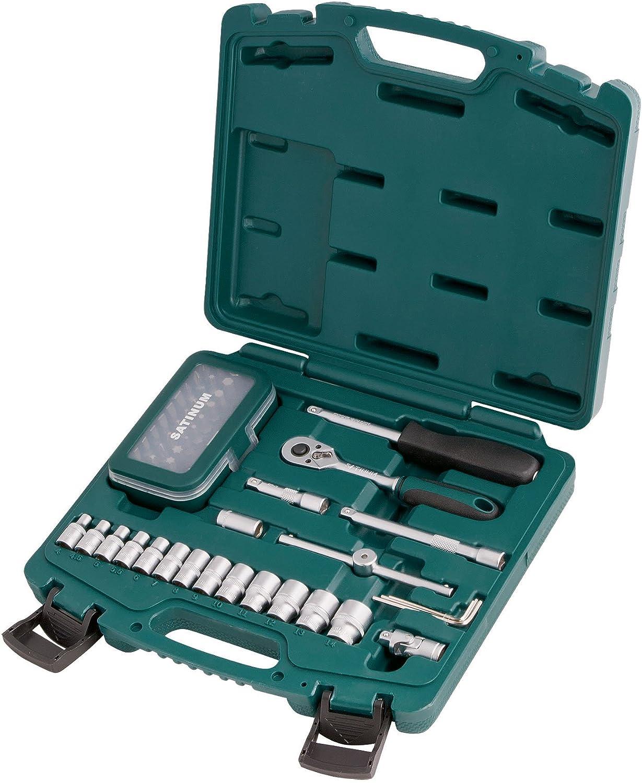 'Satinum 101 Set Steckschlüssel und Bits 1 4, 54-teilig B07BH6ZTPP | Haltbar