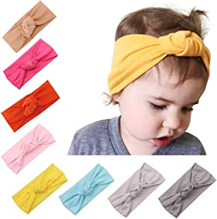 Baby Girl Cute Turban Headbands Head Wrap Knotted Hair Band for Newborn, Toddler and Childrens