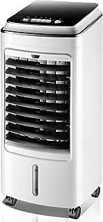 Jieer Enfriador de Aire, Air Cooler Humidifier Mute Fan con Cuatro Ruedas Móvil Pequeño Evaporativo Duradero Super Silencioso Radiador para Habitación, Oficina, Cocina-A