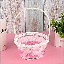LEILEIMY Panier de Rangement Boamboo Storage Basket Bowknot Simulez la boîte de Rangement de la rotin de Fruits pour Les c...