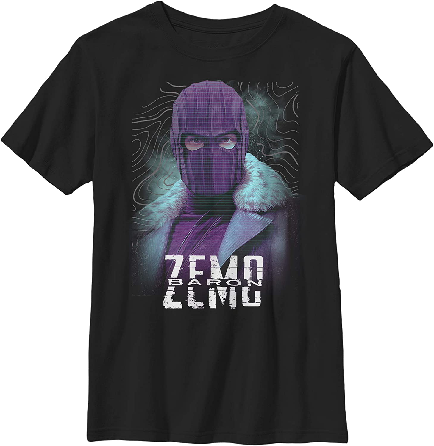 Boy's Marvel The Falcon and The Winter Soldier Baron Zemo Mask T-Shirt