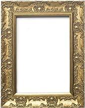 Europäische Rahmengröße - BREITER mit Ornamenten verzierter antiker Shabby Chic MUSE Bild/Foto/Plakatrahmen mit Plexiglasplatte - Formtein 58mm breit und 28 mm tief - 30 x 40 cm - Gold Farbe