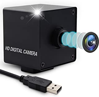 2MP Autofocus USB Camera 100 Degree Webcam HD 1080P 60fps USB with Camera with Mini Box Case Mini Camera for Robot ATM Kiosk Industrial Machine HD Surveillance Web Cams OTG Supported Plug&Play USB 2.0
