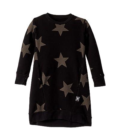 Nununu Star A Dress (Toddler/Little Kids) (Black) Girl