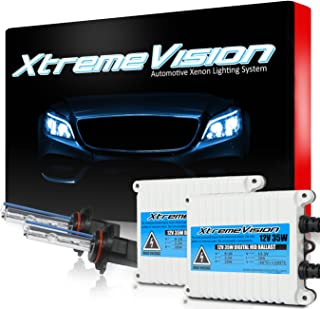 XtremeVision 35W AC Xenon HID Lights with Premium Slim AC Ballast - 9005 10000K - 10K Dark Blue - 2 Year Warranty