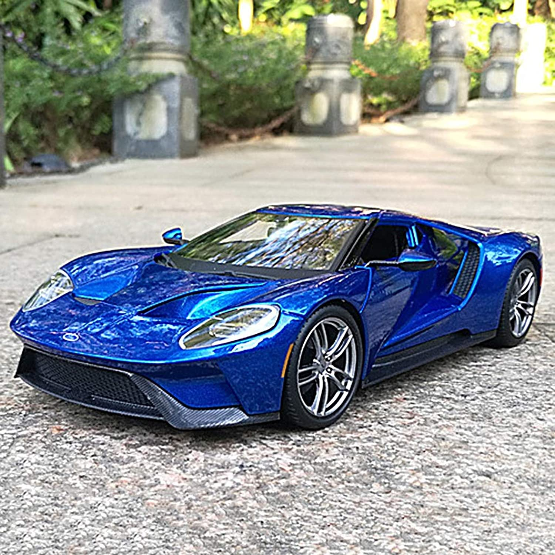 YDOZ Original Simulation tuttioy 1 18 Ford GT modellolo di Auto Sportiva Ornamenti Ammortizzatori a Quattro Ruote Invia Regali da Uomo Blu