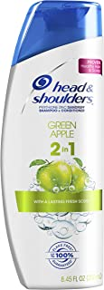Head and Shoulders Green Apple 2-in-1 Anti-Dandruff Shampoo + Conditioner 8.45 Fl Oz (Pack of 6) (Packaging may vary)