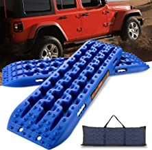 LEADRACKS Traction Boards for Off-Road Truck, Cars, Sand, Snow, Mud, 4X4 Recovery Traction Mats for Tire Traction Track To...