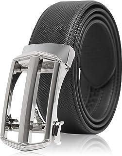 أحزمة سقاطة جلدية للرجال - حزام رجالي مع إبزيم تلقائي للبدل الجينز والزي الموحد - مصممة في الولايات المتحدة الأمريكية
