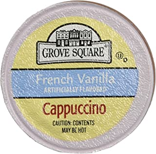 Grove Square Cappuccino, Single Serve Cup for Keurig K-Cup Brewers( French Vanilla ) - 18 K-Cup pack