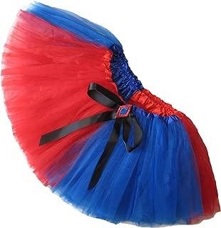 Little Girls Harlequin Red Blue Harley Tutu Short