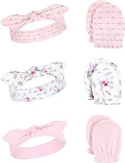 Little Treasure Baby Headband and Scratch Mitten Set, 6-Piece