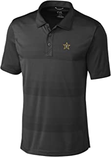 NCAA Vanderbilt Commodores Short Sleeve Crescent Print Polo, Large, Black