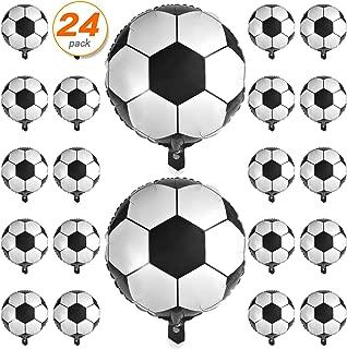 24 Pcs Soccer Ball Balloons 18