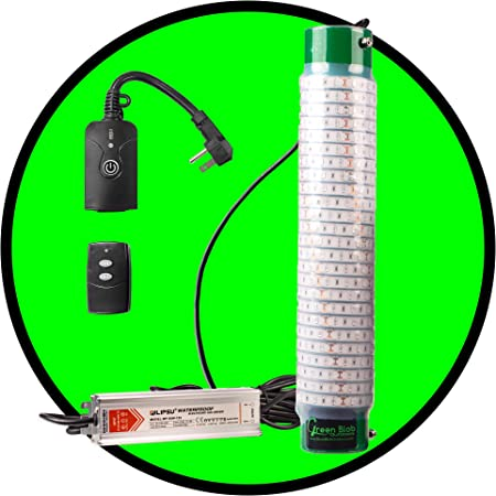 Green Blob Outdoors New Underwater Fishing Light 110 Volt for Docks, LED with Remote 7500/15000/30000 Lumen Fish Attracting Light, Snook, Crappie, Made in Texas
